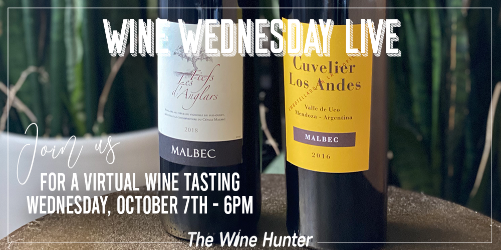 Wine Wednesday live with The Wine Hunter On Instagram and Facebook