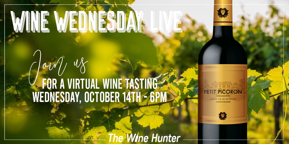 Wine Wednesday live talking about Bordeaux Right Bank